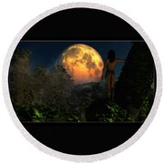Valley Of The Moon... Round Beach Towel