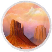 Valley Of The Rocks Round Beach Towel