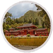 Valley Of The Temples Round Beach Towel