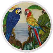 Valley Of The Wings Hand Embroidery Round Beach Towel