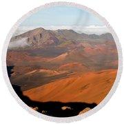 Valley Of Volcanic Cones Round Beach Towel