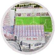 Valley Parade Stadia Art - Bradford City Fc Round Beach Towel
