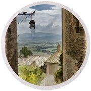 Valley View - Assisi Round Beach Towel