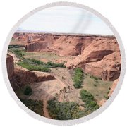Canyon De Chelly Valley View   Round Beach Towel