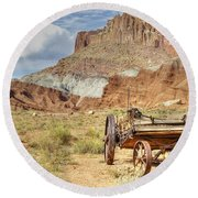 Valley Vista Round Beach Towel