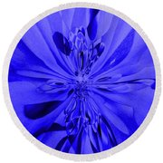Values In Blue Round Beach Towel