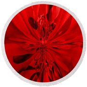 Values In Red Round Beach Towel