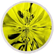 Values In Yellow Round Beach Towel