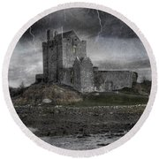 Vampire Castle Round Beach Towel by Juli Scalzi