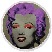 Vampire Marilyn Variant 3 Round Beach Towel