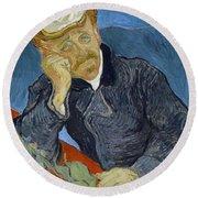 Van Gogh Dr Gachet Round Beach Towel