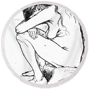 Sorrow, 1882 Round Beach Towel