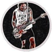 Van Halen-93-mike-gc23-fractal Round Beach Towel