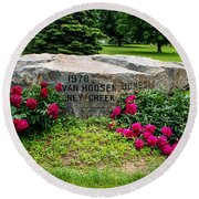 Van Hoosen Jones Stoney Creek Entrance Stone Round Beach Towel