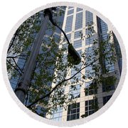 Vancouver Architecture 1 Round Beach Towel