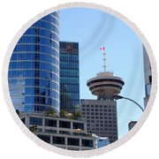 Vancouver Architecture 2 Round Beach Towel