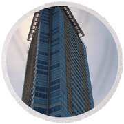 Vancouver Architecture 5 Round Beach Towel