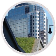Vancouver Architecture 6 Round Beach Towel