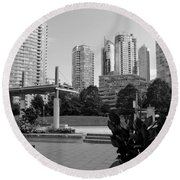 Vancouver Canada Skyscrapers And Park Round Beach Towel