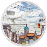 Vancouver China Town Round Beach Towel