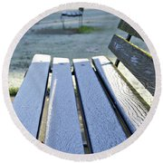 Vancouver Frosty Morning Round Beach Towel by Marilyn Wilson