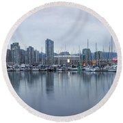 Vancouver Panorama Round Beach Towel