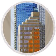 Vancouver Reflections No 1 Round Beach Towel