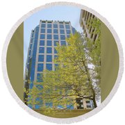 Vancouver Silhouettes No 1 Round Beach Towel