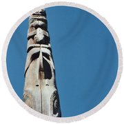 Vancouver Totem By Jrr Round Beach Towel