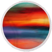 Vanity Of Its Rays Round Beach Towel