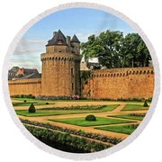 Vannes In Brittany France Round Beach Towel