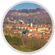 Varazdinske Toplice - Thermal Springs Town Round Beach Towel