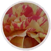 Variegated Rose Round Beach Towel