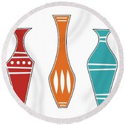 Vases Round Beach Towel