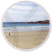 Vazon Bay - Guernsey Round Beach Towel