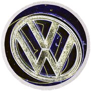 Vdub 2 Round Beach Towel