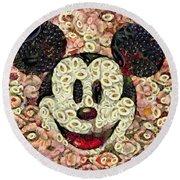Veggie Mickey Mouse Round Beach Towel