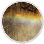 Veiled By A Rainbow Round Beach Towel