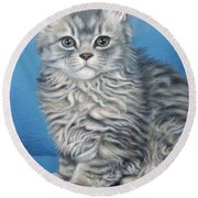 Velvet Kitten Round Beach Towel