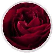 Velvet Rose Mirrored Edge Round Beach Towel