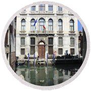 Venetian Canal Round Beach Towel