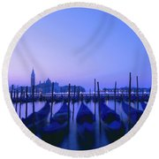 Venetian Sunrise Round Beach Towel