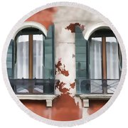 Venetian Window Round Beach Towel