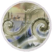 Venezia Bella Round Beach Towel