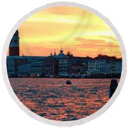 Venice Colors Round Beach Towel