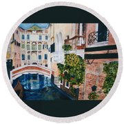 Venice- Italy Round Beach Towel