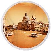 Venice Italy Grand Canal Round Beach Towel