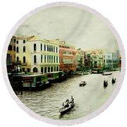 Venice Italy Magical City Round Beach Towel