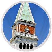 Venice Italy - St Marks Square Tower Round Beach Towel
