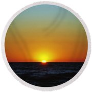 Venice Sunset Round Beach Towel
